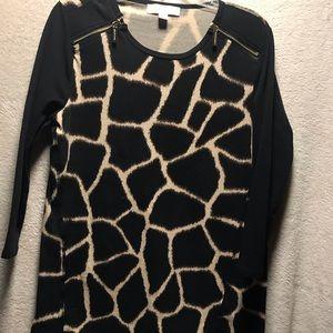 Michael kors women's Sz XL Giraffe animal print